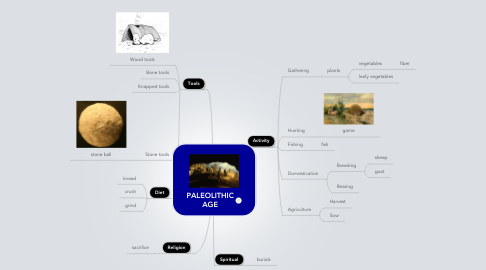 Mind Map: PALEOLITHIC AGE