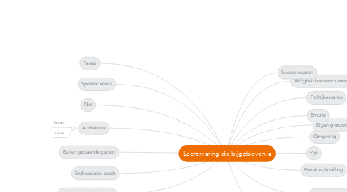 Mind Map: Leerervaring die bijgebleven is