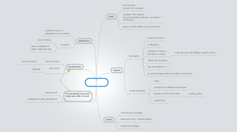 Mind Map: confiance