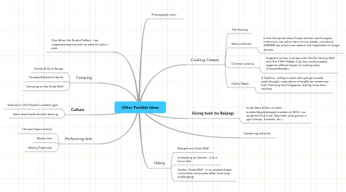 Mind Map: Other Possible Ideas