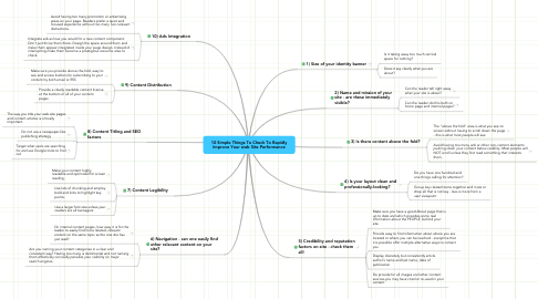 Mind Map: 10 Simple Things To Check To Rapidly Improve Your web Site Performance