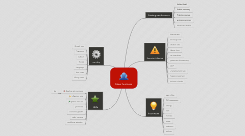 Mind Map: New business