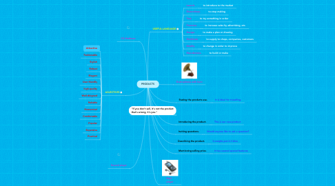 Mind Map: PRODUCTS
