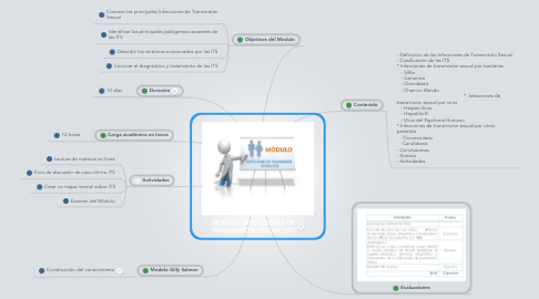 Mind Map: MÓDULO INFECCIONES DE TRANSMISIÓN SEXUAL (ITS)