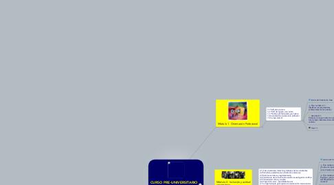 Mind Map: CURSO PRE-UNIVERSITARIO E-LEARNING