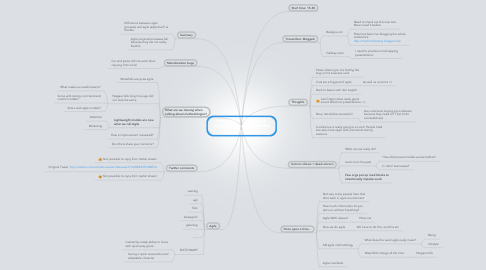 "Mind Map: Peter Walen: ""Thinking and Working Agile in an Unbending World"""