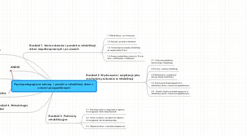 Mind Map: Psychopedagogiczne sukcesy  i porażki w rehabilitacji dzieci z  urazami powypadkowymi