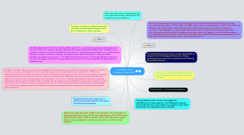 Mind Map: The Effects of the