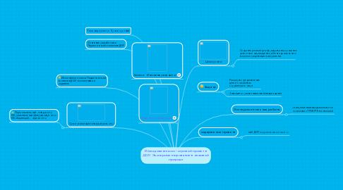 Mind Map: Иcследовательско - игровой проект в ДОУ. Экспериментирование в неживой природе