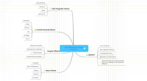 Mind Map: Data Warehouse Fidelity Customer