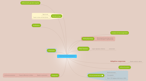 Mind Map: STREPTOCOCCAL PHARYNGITIS