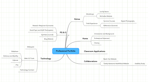 Mind Map: Professional Portfolio
