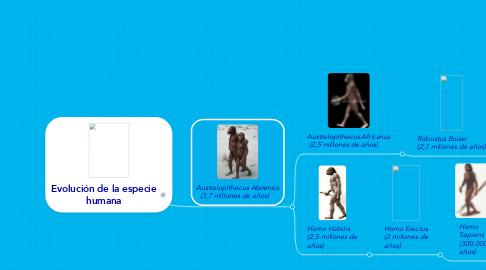 Mind Map: Evolución de la especie humana