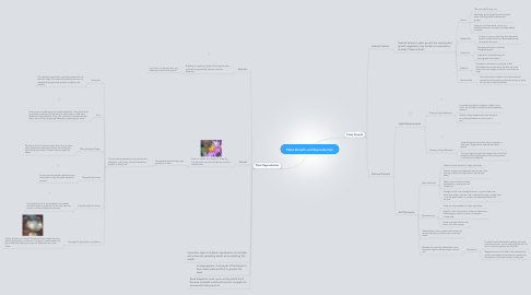Mind Map: Plant Growth and Reproduction