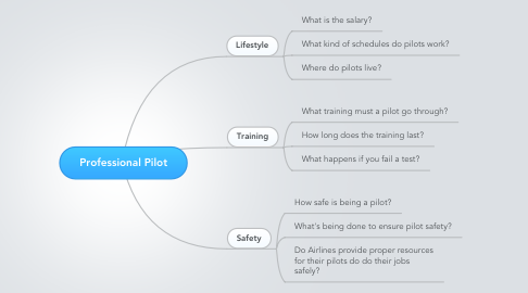 Mind Map: Professional Pilot