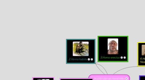 Mind Map: Evolución de los Homínidos