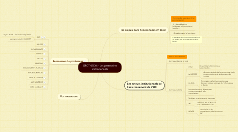 Mind Map: GRCTH2Ch6 - Les partenaires institutionnels