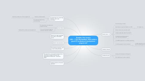Mind Map: Thursday 31st January 1630 – 1730: MirandaMod: What makes agood ICT professional developmentprogramme?