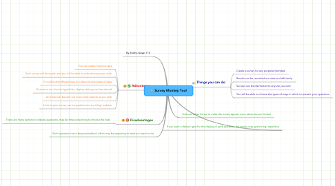 Mind Map: Survey Monkey Tool