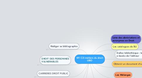 Mind Map: M1 C2i métiers du droitUBO