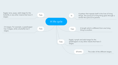 Mind Map: A life cycle