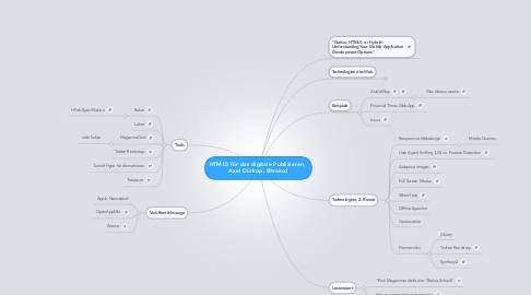 Mind Map: HTML5 für das digitale Publizieren,  Axel Dürkop, @trainxl