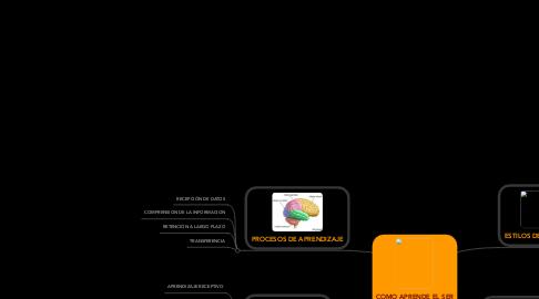 Mind Map: COMO APRENDE EL SER HUMANO
