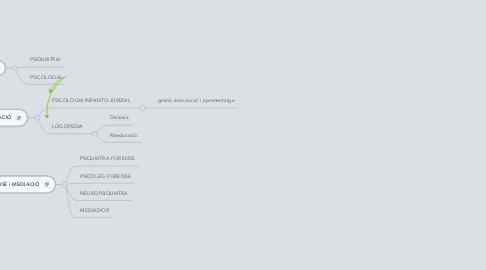 Mind Map: CENTRE SUPORT: Psicologia i Reeducació
