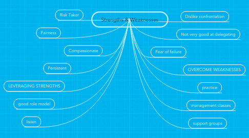 Mind Map: Strengths & Weaknesses