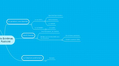 Mind Map: Sports Extrêmes  et Publicité
