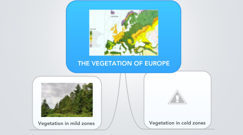 Mind Map: THE VEGETATION OF EUROPE