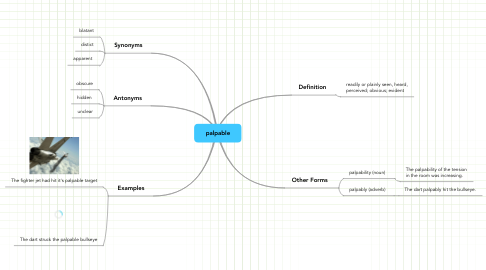 Mind Map: palpable