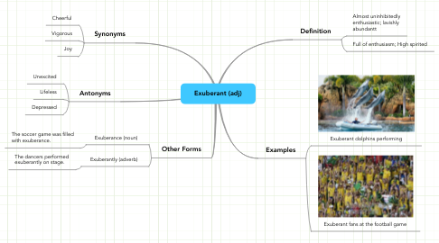Mind Map: Exuberant (adj)