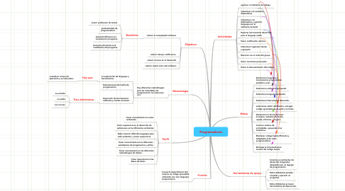 Mind Map: Programadores