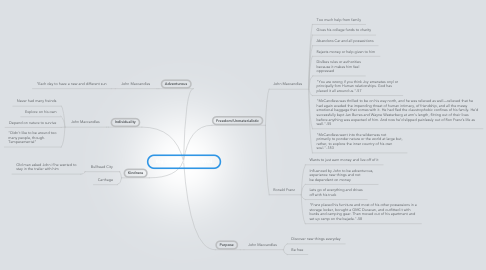 Mind Map: Big Ideas in Into the Wild