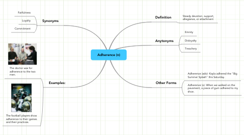 Mind Map: Adherence (n)