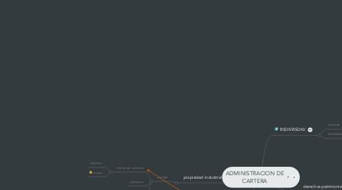 Mind Map: ADMINISTRACION DE CARTERA
