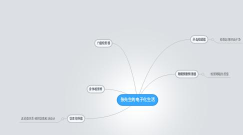 Mind Map: 张先生的电子化生活