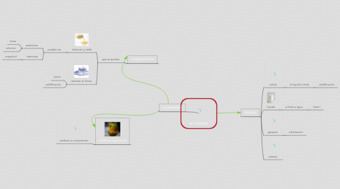 Mind Map: la materia
