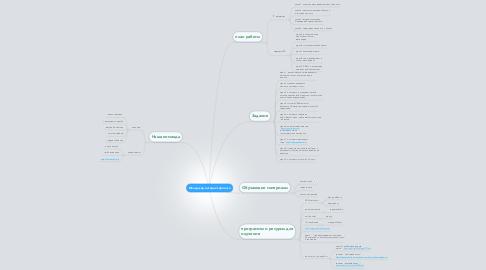 Mind Map: Менеджер интернет-проекта