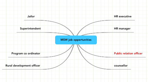 Mind Map: MSW job oppertunities