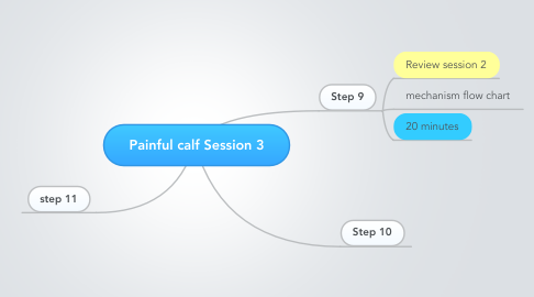 Mind Map: Painful calf Session 3