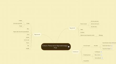 Mind Map: Entorn Personal d'Aprenentatge   PLE