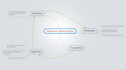 Mind Map: Reproduction in Flowering Plants