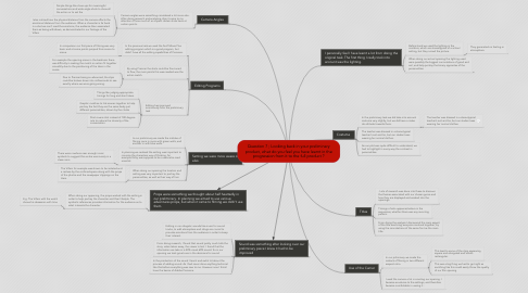 Mind Map: Question 7 ; Looking back in your preliminary product, what do you feel you have learnt in the progression from it to the full product ?