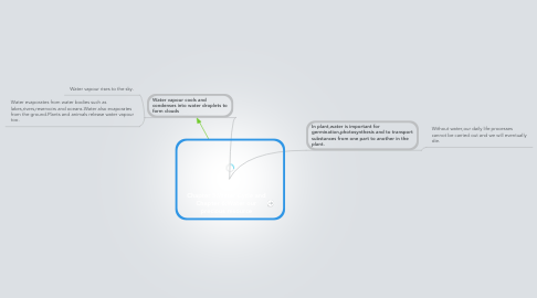 Mind Map: Chapter 5:Water Cycle and Chapter 6:Water our precious resource