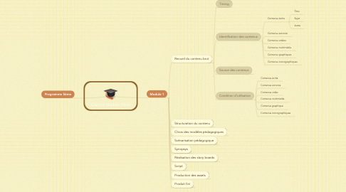 Mind Map: Copy of Module Pilote