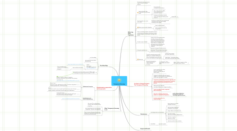 Mind Map: Transparent Economy