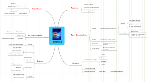 Mind Map: ESTANDARES DE PROGRAMACION