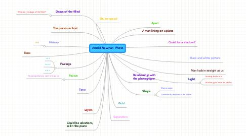 Mind Map: Arnold Newman  Photo